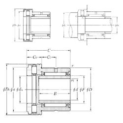 25 mm x 42 mm x 20 mm r1 min. NTN NKXR45T2Z+IR40×45×20 Complex Bearings