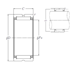 75 mm x 190 mm x 45 mm Outer Diameter (mm) NTN RNA4940 Needle Roller Bearings