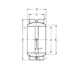 105 mm x 160 mm x 26 mm Basic dynamic load rating (C) NTN SA2-32B Plain Bearings