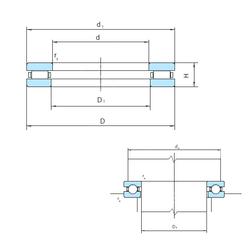 300 mm x 460 mm x 74 mm Bore Diameter (mm) PSL 81176 Thrust Roller Bearings