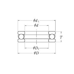 76,2 mm x 127 mm x 31 mm C RHP LT4 Thrust Ball Bearings