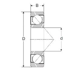 C SIGMA 7318-B Angular Contact Ball Bearings