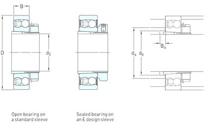 55 mm x 110 mm x 33 mm Width (mm) SKF 1215K+H215 Self Aligning Ball Bearings