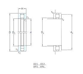 1,984 mm x 6,35 mm x 3,571 mm B SKF 81136M Thrust Roller Bearings