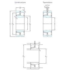 110 mm x 240 mm x 50 mm Basic static load rating – C0 SKF E2.22213K Spherical Roller Bearings