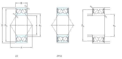 100 mm x 180 mm x 34 mm Outer Diameter (mm) SKF E2.3211A-2Z Angular Contact Ball Bearings