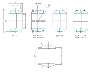60 mm x 95 mm x 18 mm Bore Diameter (mm) SKF GEZ104ES Plain Bearings