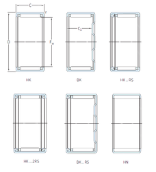 200 mm x 420 mm x 138 mm Weight / Kilogram SKF HK3016.2RS Needle Roller Bearings