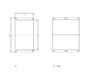 280 mm x 500 mm x 80 mm C SKF K20x28x25 Needle Roller Bearings