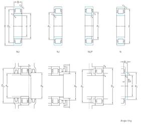 110 mm x 240 mm x 50 mm Ew SKF NJ1009ECP Cylindrical Roller Bearings