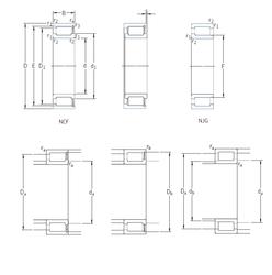130 mm x 210 mm x 80 mm Bore Diameter (mm) SKF NJG2326VH Cylindrical Roller Bearings