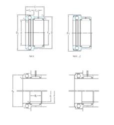 Width (mm) SKF NKX17Z Complex Bearings