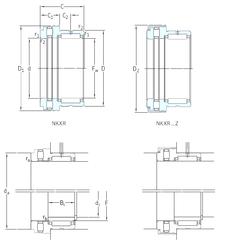 79,375 mm x 140 mm x 82,6 mm Basic dynamic load rating (C) SKF NKXR50Z Complex Bearings