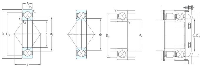 45 mm x 85 mm x 19 mm Basic static load rating C0 SKF QJ234N2MA Angular Contact Ball Bearings