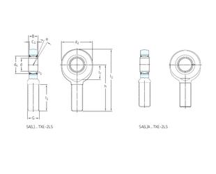Fw SKF SA45TXE-2LS Plain Bearings