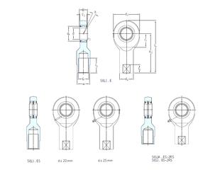 360 mm x 440 mm x 38 mm Basic dynamic load rating (C) SKF SIL6E Plain Bearings