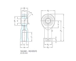 Bore Diameter (mm) SKF SILKAC8M Plain Bearings