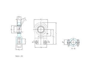 45 mm x 75 mm x 16 mm C SKF SIR50ES Plain Bearings