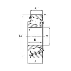 35,000 mm x 80,000 mm x 38,1 mm C SNR EC42229S01H206 Tapered Roller Bearings