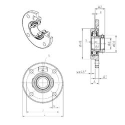 15,875 mm x 49,225 mm x 21,539 mm a SNR ESFCE202 Bearing Units