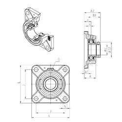 30 mm x 47 mm x 11 mm r1 min. SNR ESFE209 Bearing Units