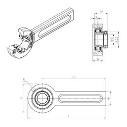 30 mm x 47 mm x 18 mm Bearing number SNR ESSP209 Bearing Units