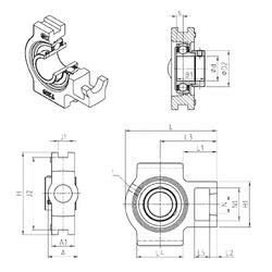 6 mm x 16 mm x 9 mm Size (mm) SNR EST203 Bearing Units