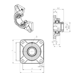 70 mm x 125 mm x 24 mm Bearing number SNR EXF210 Bearing Units