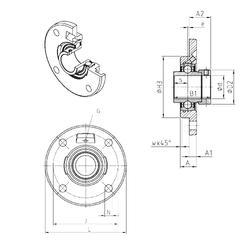 Basic dynamic load rating (C) SNR EXFCE216 Bearing Units