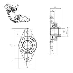 101,6 mm x 215 mm x 108 mm S SNR EXFL311 Bearing Units