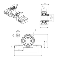 Weight (g) SNR EXP310 Bearing Units