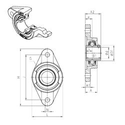 35 mm x 80 mm x 34,9 mm Category SNR UCFL203 Bearing Units
