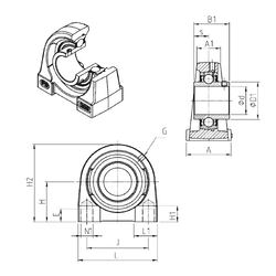 Width (mm) SNR UCPG206 Bearing Units