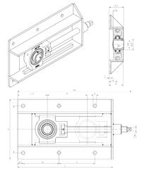 281,000 mm x 354,000 mm x 37,000 mm Size (mm) SNR UCT207+WB Bearing Units
