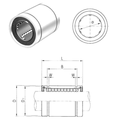 240 mm x 360 mm x 92 mm C Samick LM10 Linear Bearings