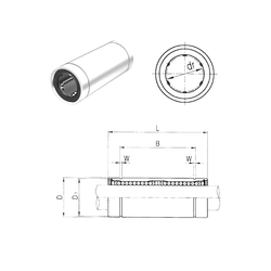 Weight Samick LM35L Linear Bearings