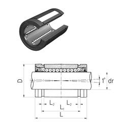 100 mm x 150 mm x 20 mm da Samick LMBS10UUOP Linear Bearings