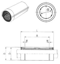 320 mm x 440 mm x 118 mm Bearing number Samick LME20L Linear Bearings