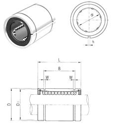 15,000 mm x 42,000 mm x 13,000 mm B Samick LME30AJ Linear Bearings