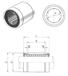 49 mm x 160 mm x 67,4 mm Bearing number Samick LME60UU Linear Bearings