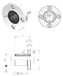 130 mm x 200 mm x 21 mm d1 Samick LMEF20 Linear Bearings