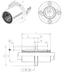 670 mm x 820 mm x 103 mm Reference speed Samick LMEFM60UU Linear Bearings