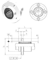 3 mm x 7 mm x 3 mm Da max. Samick LMEFP25 Linear Bearings