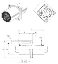 85 mm x 150 mm x 28 mm Size (mm) Samick LMEKM16 Linear Bearings