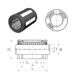 Bore Diameter (mm) Samick LMES16UU Linear Bearings