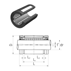 152,4 mm x 168,275 mm x 7,938 mm Bearing No. Samick LMES40UUOP Linear Bearings