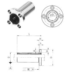 95,25 mm x 149,225 mm x 83,34 mm rb max. Samick LMF30L Linear Bearings
