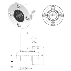 95 mm x 170 mm x 32 mm ra1 max. Samick LMF6UU Linear Bearings