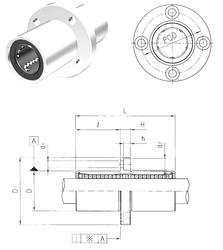 130 mm x 230 mm x 80 mm Width Samick LMFM6UU Linear Bearings