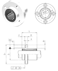 50 mm x 110 mm x 40 mm Basic static load rating (C0) Samick LMFP12UU Linear Bearings